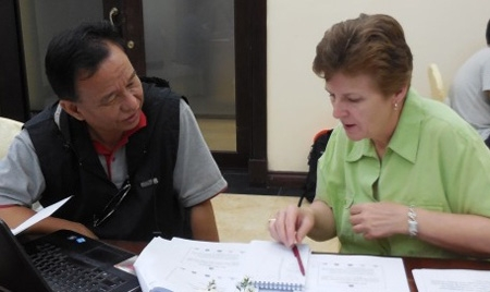 ELP grad Libby Turner worked with locals in Burma to improve its disaster management system