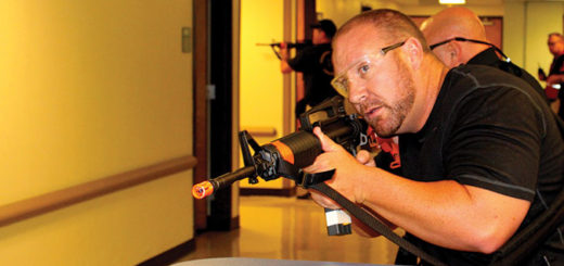 ICE agents participate in active shooter training.