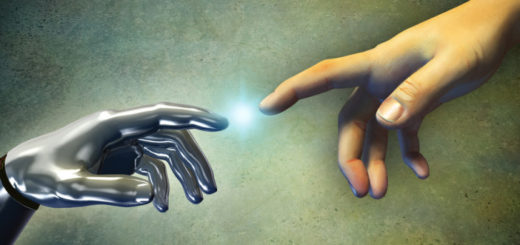 robot human touch image