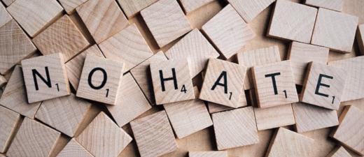 No Hate Scrabble image