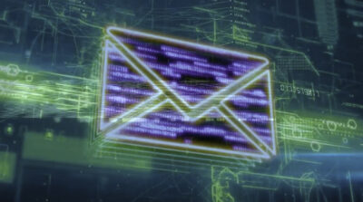 electronic image of email envelope symbol
